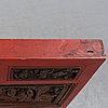 A red lacquered and gilded panel, qing dynasty, 19th century.