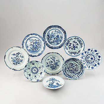 A set of nine dishes, Qing dynasty, 18th/21st Century.