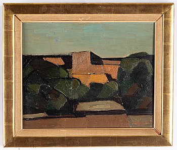 Ivar Morsing, oil on panel, signed and dated 1954.