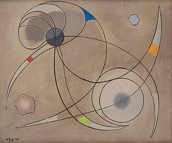 """547. Vilhelm Bjerke-Petersen, """"Erövring av rymden""""."""
