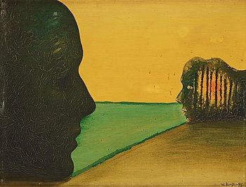 544. Vilhelm Bjerke-Petersen, Landscape with two profiles.