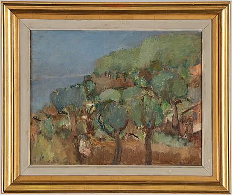 Ivan ivarson, oil on canvas/panel, signed.