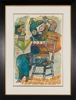 Theo Tobiasse, lithograph and carborundum etching, signed and numbered 4/125.