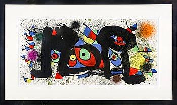 Joan Miró, color lithograph, signed in print, from Ceramiques de Miró artigas.