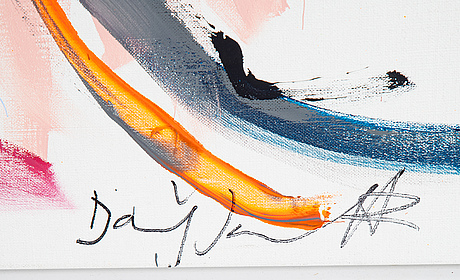 Daniel jouseff, acrylic on canvas, signed.
