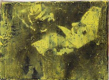 Henry Krokatsis, signed Henry Krokatsis and dated 2005 on verso. Mixed media on canvas laid down on panel 15 x 20 cm.