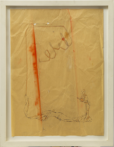 Clare stephenson, ink and pencil on paper. signed and dated 2005 on verso.
