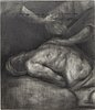 Ilias papailiakis, pencil on wood, signed and dated 06 on verso.