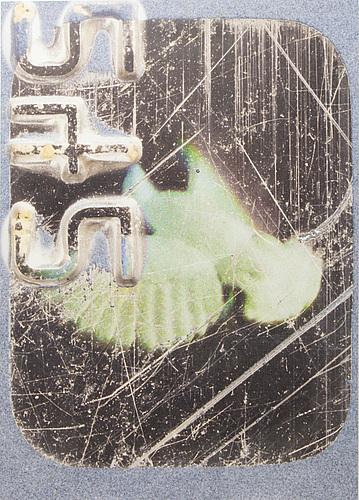 Jason loebs, uv curable print on gessoed wood panel. executed 2012. unique.
