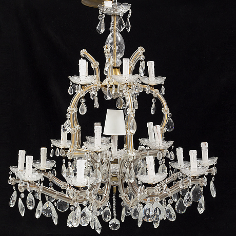 A glass chandelier, first half of the 20th century.
