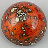 Hans hedberg, a signed faience egg with stand, biot, france.