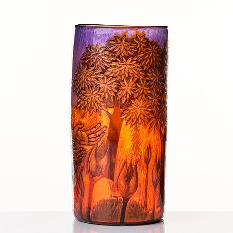 """Clare henshow, a glass vase """"planting a seed"""", great britain, 1999."""