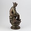 Emil thomasson. sculpture. signed. bronze. height 47 cm.