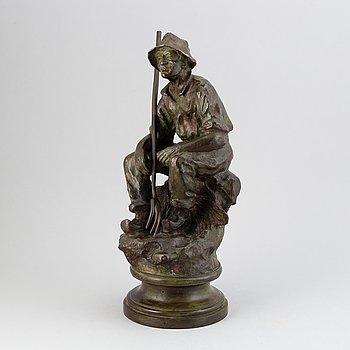 Emil Thomasson, skulptur. Signerad. Brons. Höjd 47 cm.