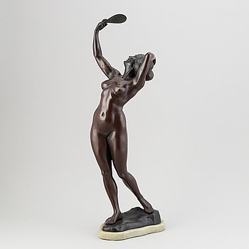 Gyula (Julius) Maugsch, efter. Skulptur. Signerad. Brons. Tot höjd 69 cm.