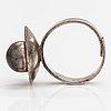 Elis kauppi, a sterling silver ring. kupittaan kulta, turku 1971.