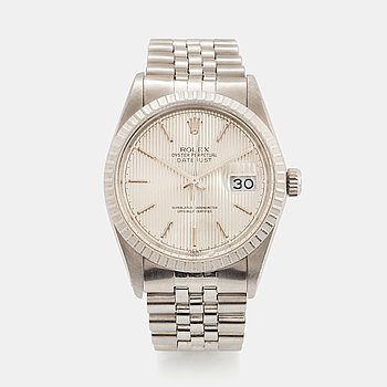 "1. Rolex, Datejust, ""Tapestry Dial""."