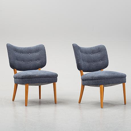 Fåtöljer, ett par, swedish modern, 1900-talets mitt.