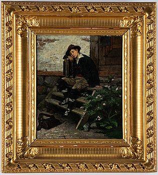 Emilia Lönblad, oil on panel, signed and dated.