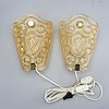 A pair of wall lamps 1940/50s.