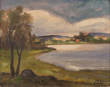 Jalmari ruokokoski, olja på duk, signerad och daterad 1920.