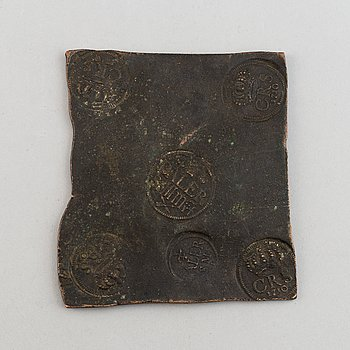 A Swedish 1/2 daler coin 1710.