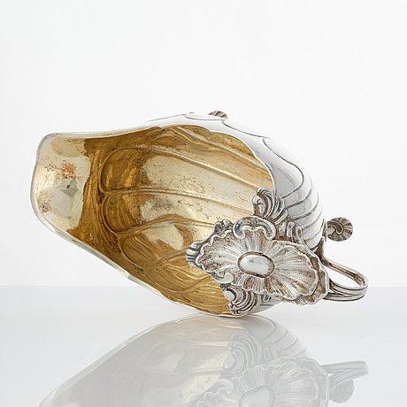 Isak sauer, gräddsnäcka, silver, stockholm 1765. rokoko.