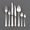 "An 80 pcs swedish ""chippendale"" silver flatware service, maker's mark gab, stockholm, 1970s."