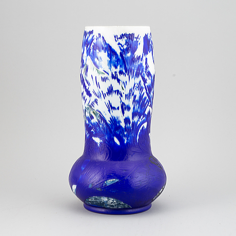 Axel enoch boman, vase, glass, reijmyre, an experimental studi-work, not signed.