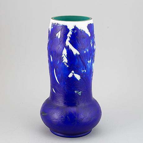 Axel enoch boman, vase, glass, reijmyre, an experimental studi-work, not signed.