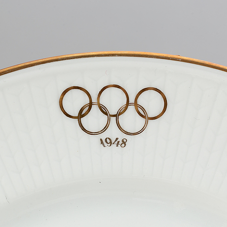 Louise adelborg, a 58 pcs olympic games 1948 porcelain dinner service, rörstrand, sweden.