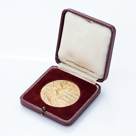 Olympic winner medal, london 1948, gilt silver, john pinches ltd.