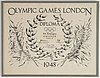 """Olympic games london diploma 1948, """"b.e. rosengren sweden football 1st""""."""