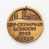 Olympic participation medal, london, 1948.
