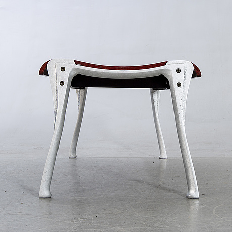 Bench, contemporary, metal and wood.
