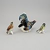 Karl ens, three porcelain figurines, germany.