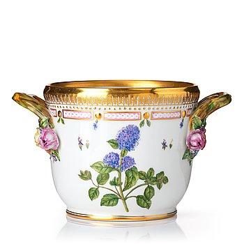 """344. A Royal Copenhagen """"Flora Danica"""" wine cooler/flower pot, Denmark, 20th Century."""