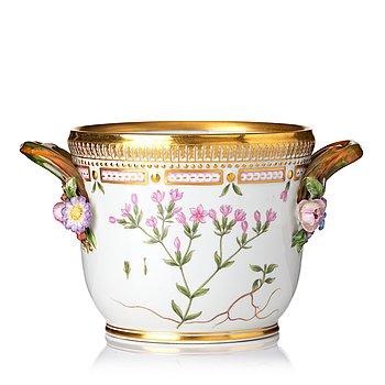 345. A Royal Copenhagen 'Flora Danica' wine cooler/flower pot, Denmark, 20th Century.