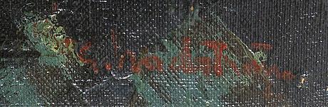 Gerhard nordström, a signed oil on relined canvas.