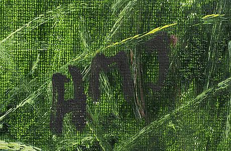 Ann-marie jönsson, a signed oil on canvas.
