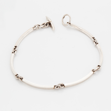 Niels erik from, sterling silver necklace and bracelet , denmark.