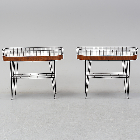 Two 1950's-60's flower stands.