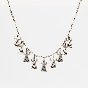 Kalevala Heli 1304643uori, silver plated bronze necklace.