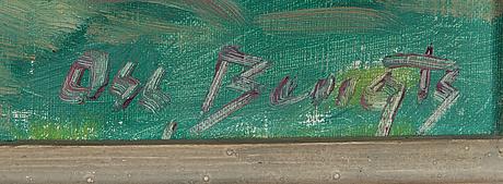 Oscar bengts, oil on canvas, signed.