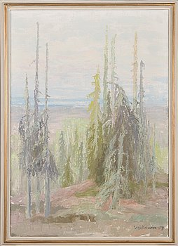 Lahja Koivunen, oil on canvas, signed and dated -57.