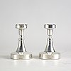 Eric löfman (mgab), candlesticks a pair of silver uppsala 1967.