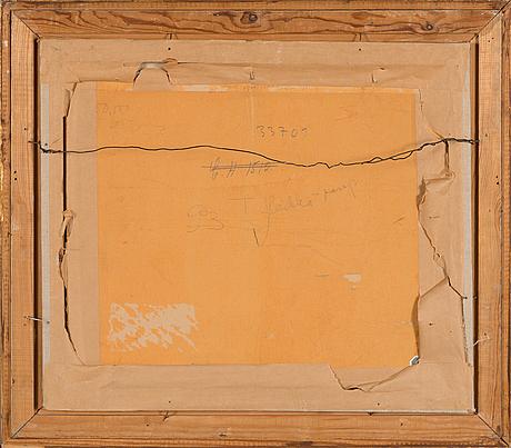 Verner thomé, olja på pannå, signerad och daterad 1945.