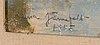 Laura järnefelt, olja på pannå, signerad och daterad 1945.