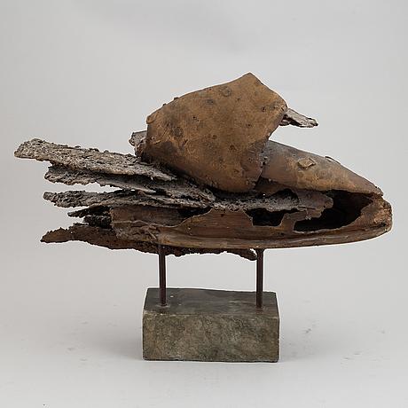 Giorgio de giorgi, sculpture. signed with initial. total height 45 cm. length 58 cm.