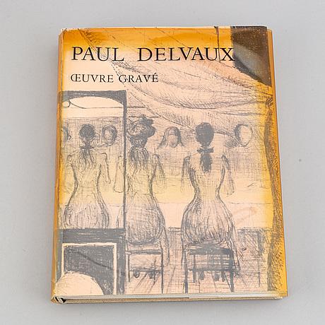 "Book with lithograph, paul delvaux ""oevre gravé"", 1976."